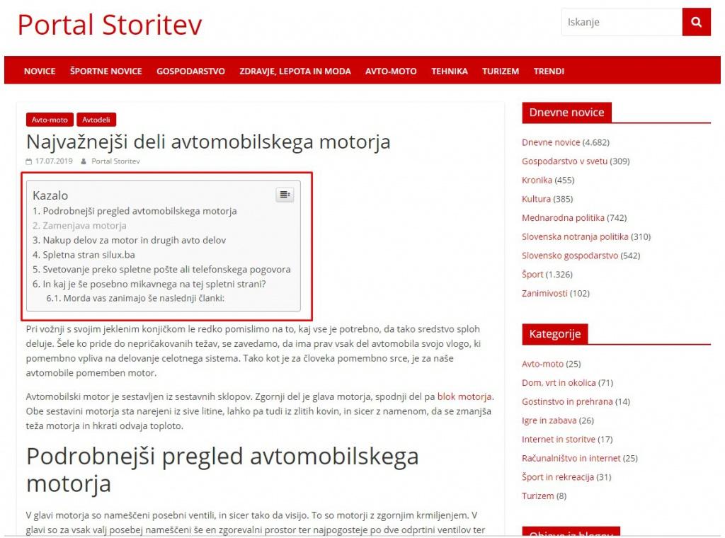 TOC on Storitev.com